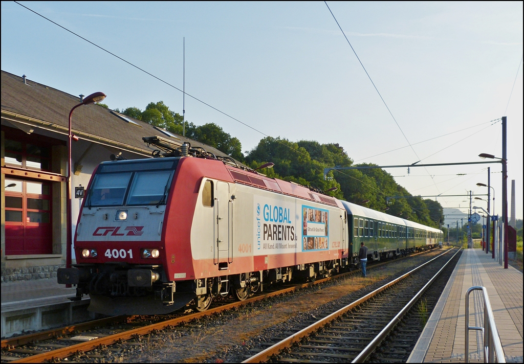 . 4001 pictured with a special train in Wiltz on July 111th, 2013.