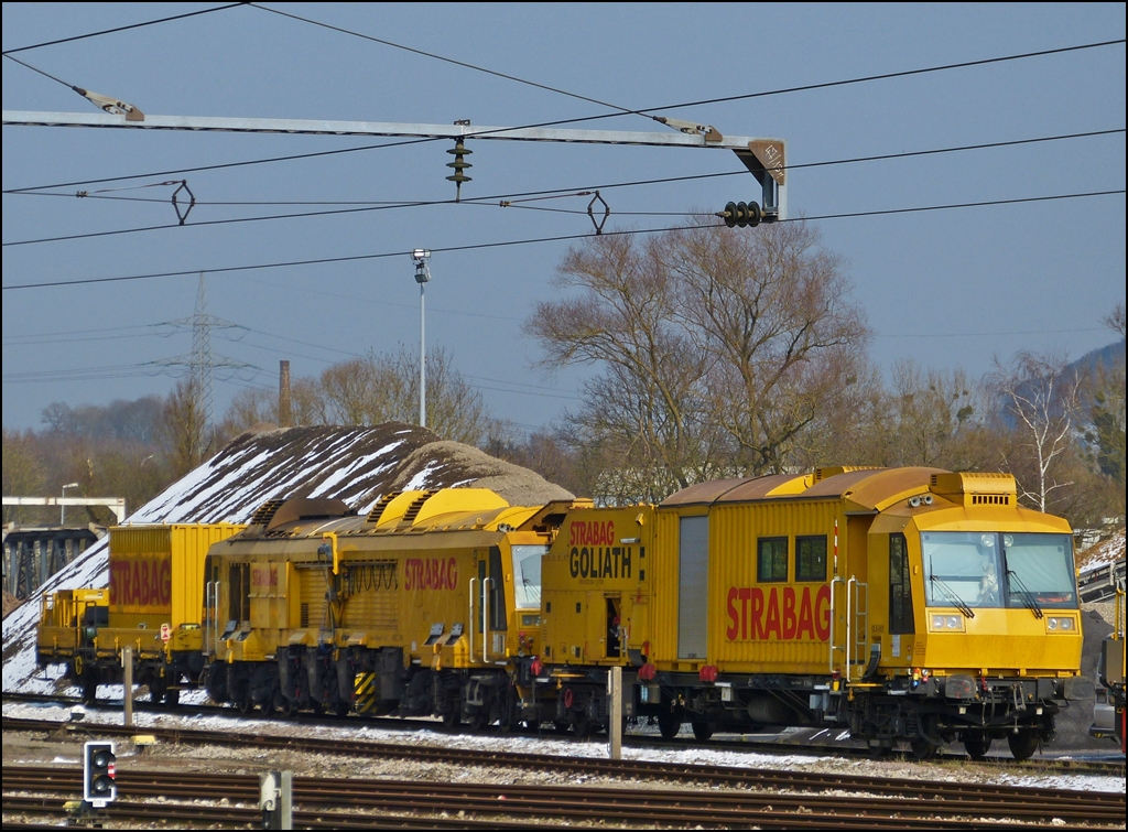 . A Strabag maintenance train photographed in Ettelbrück on March 25th, 2013.
