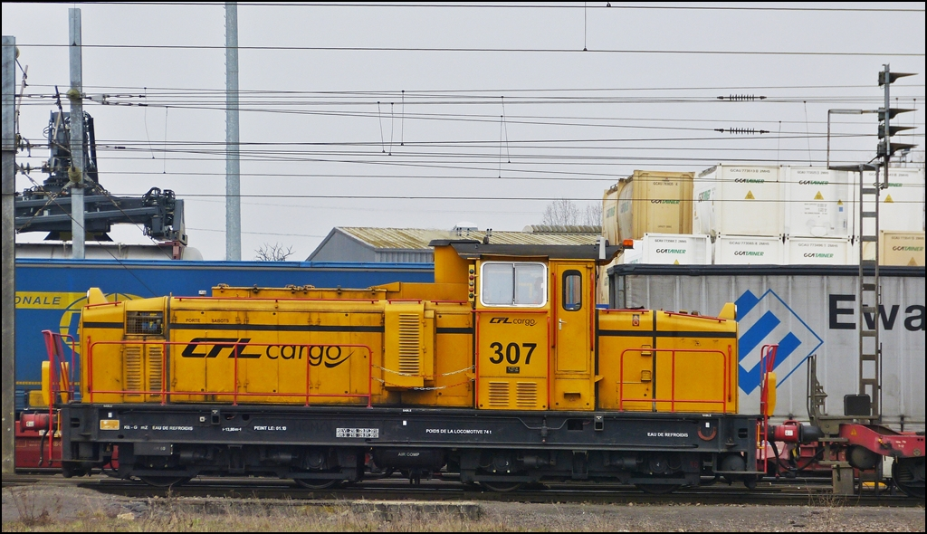 . The CFL Cargo Diesel engine 307 pictured in Bettembourg on April 5th, 2013.