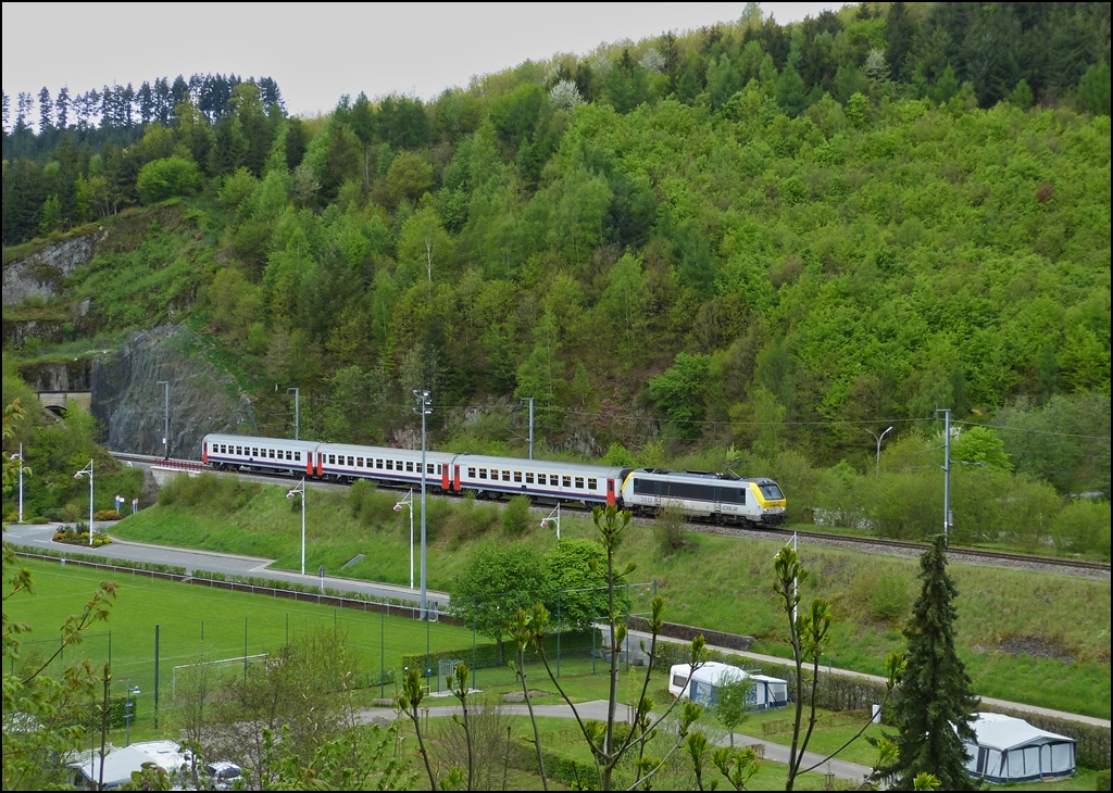 . The IR 114 Luxembourg City - Liers is running through Clervaux on May 13th, 2013.