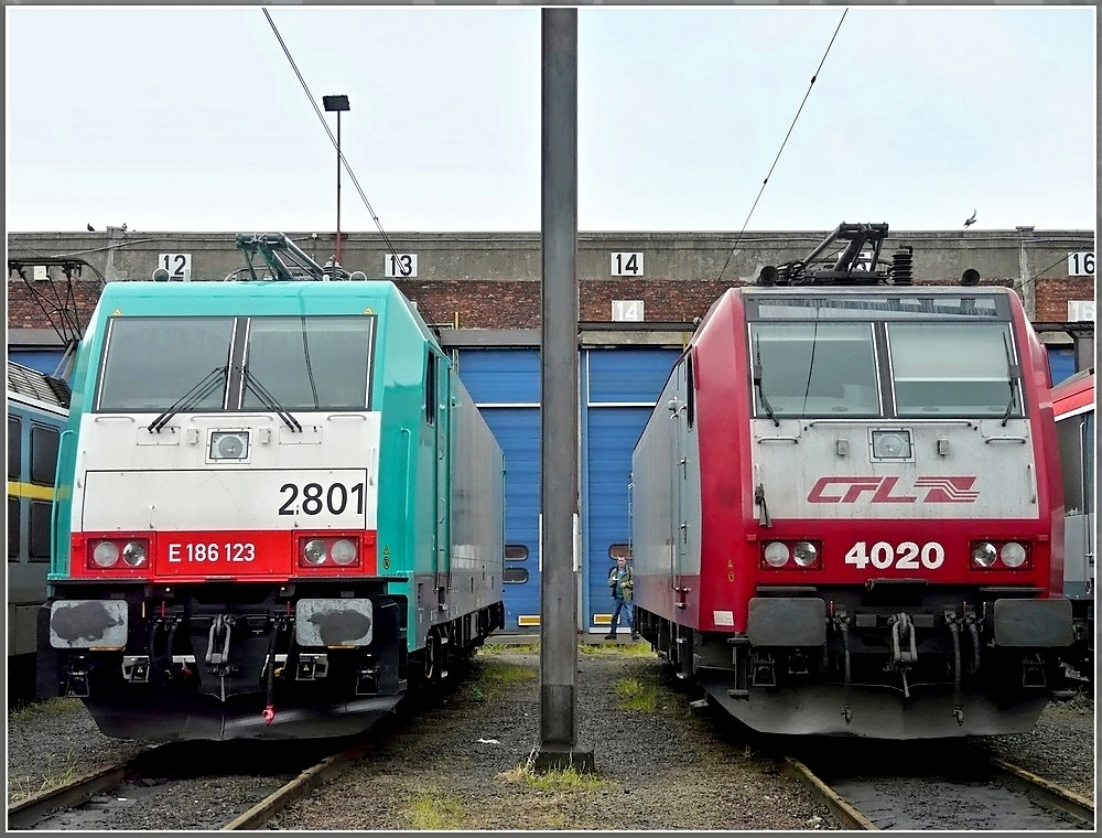 . Two Bombardier engines, TRAXX HLE 2801 and CFL 4020, were shown during on open day in Kinkempois on May 18th, 2008.