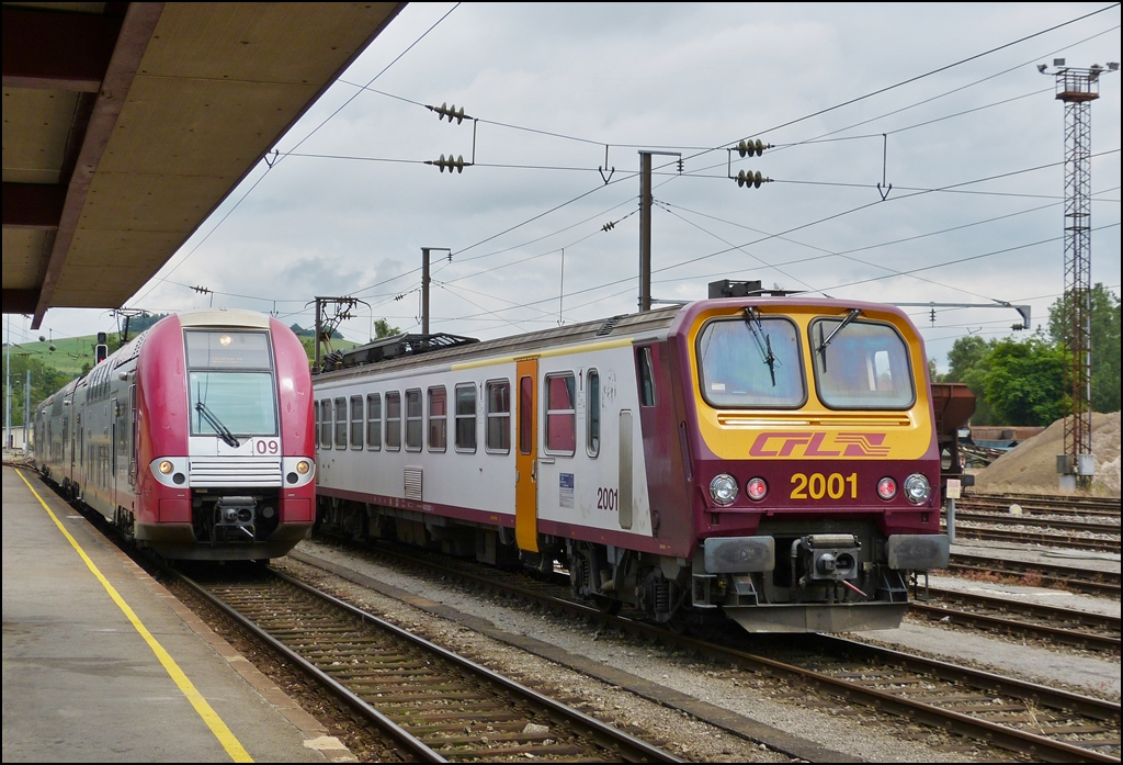 . Z 2209 and Z 2001 pictured together in Ettelbrück on July 5th, 2013.