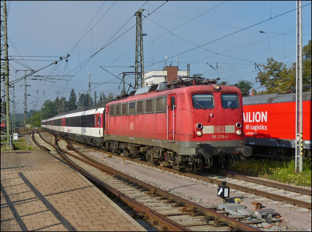 Two class 218 locomotives with IRE to Lindau and Ulm