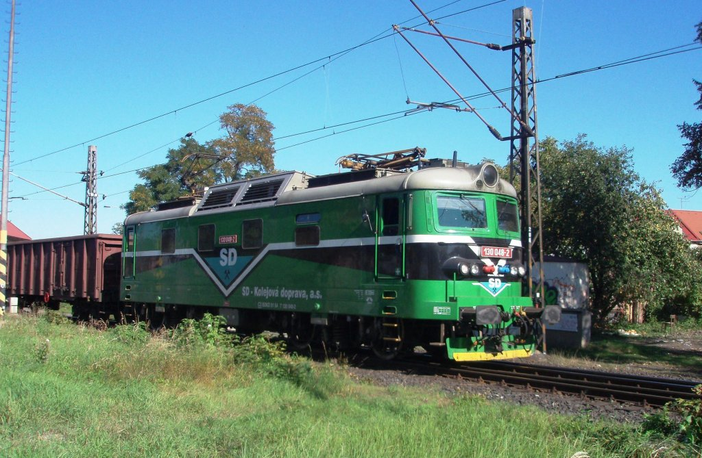 130 048 on the 1st of October, 2011 on the Railway station Chomutov.