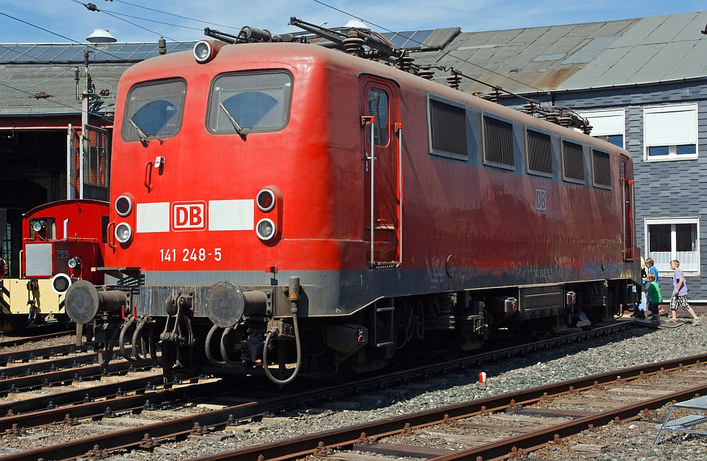 141 248-5 displayed in the South Westphalian Railway Museum in Siegen at the Roundhouse Festival on 18.08.2012
