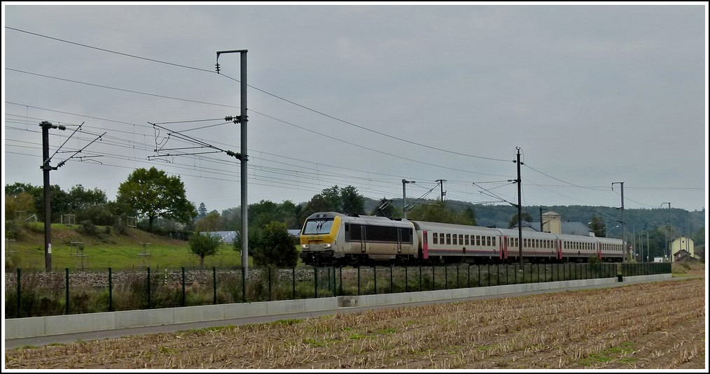 3005 is heading the IR 115 Liers - Luxembourg City in Pettingen on October 17th, 2011.