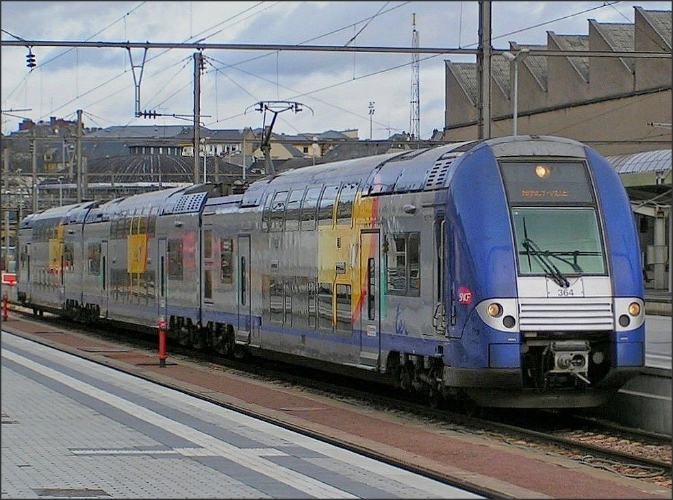 364 pictured at the station of Luxembourg City on January 20th, 2008.