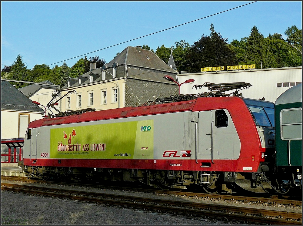 4001 pictured at the station of Wiltz on July 9th, 2010.