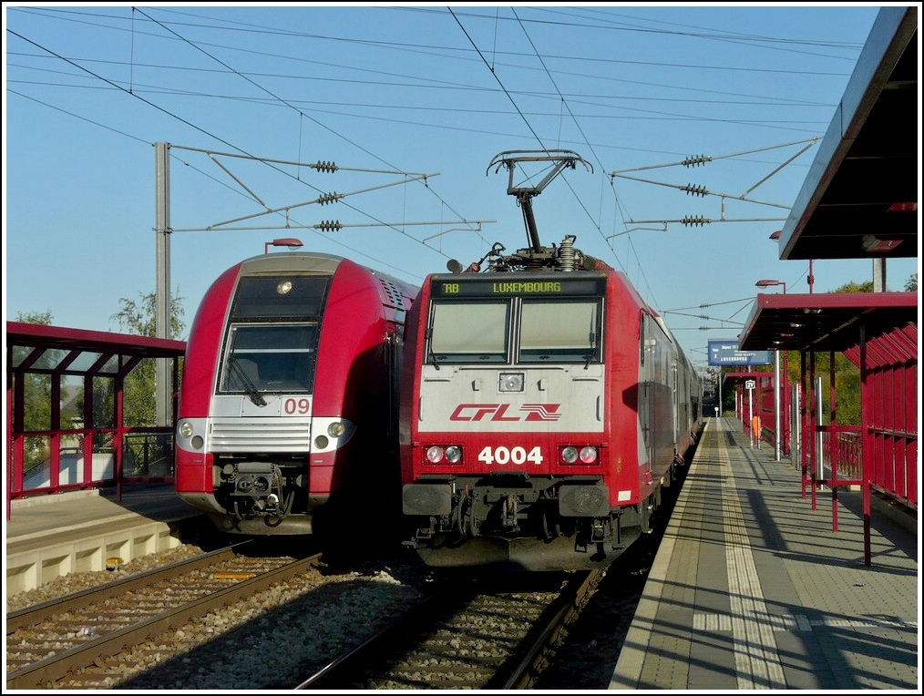 4004 and Z 2209 are meeting in Rodange on October 1st, 2011.