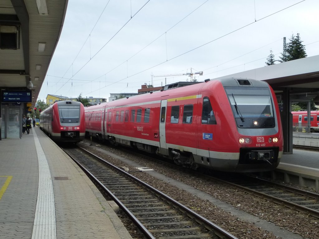 612 482 and 612 471 are standing in Nuremberg main station, June 23th 2013.