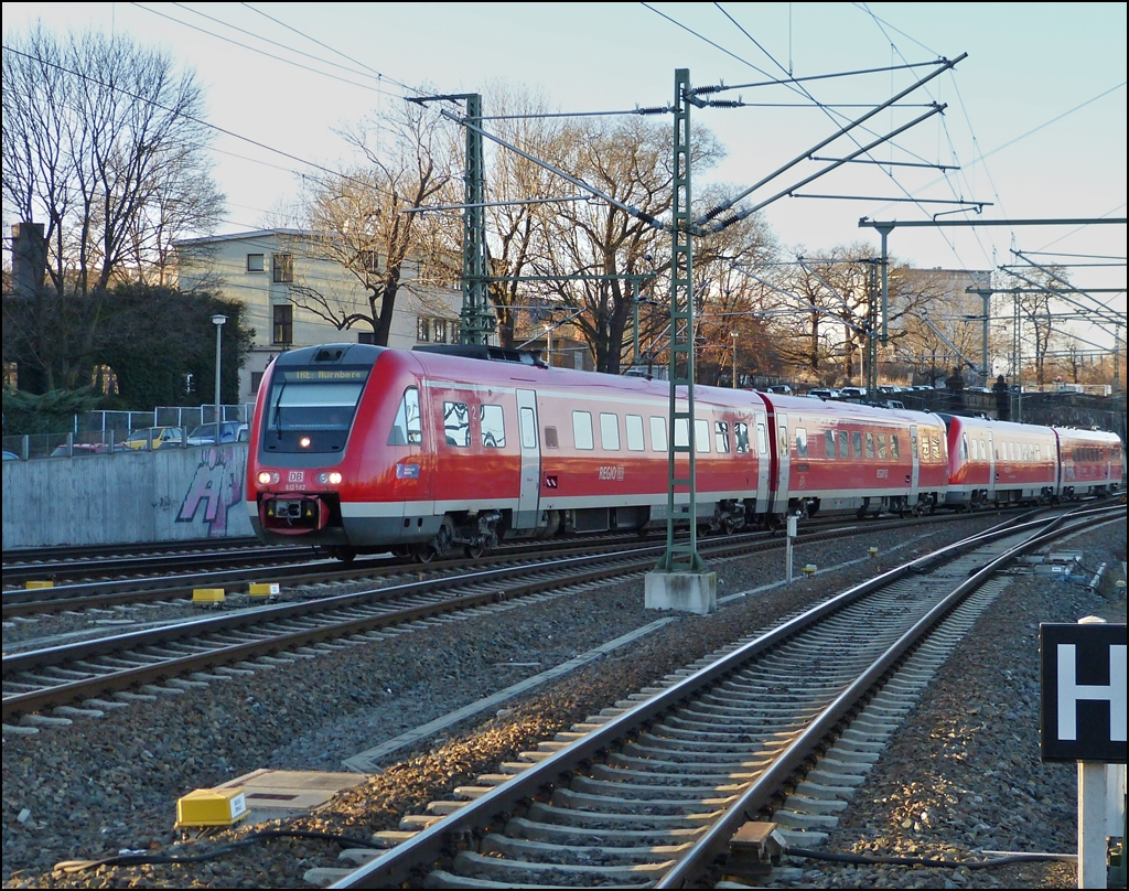 612 double unit is entering into the main station of Dresden on December 28th, 2012.