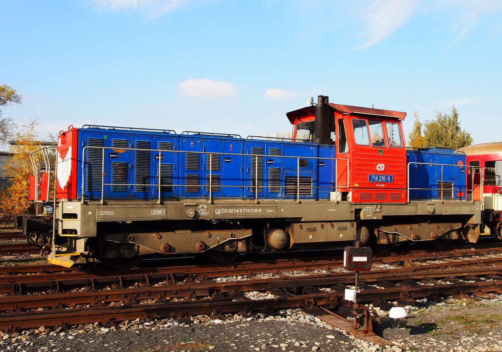 714 216-9 at the raiway station Kladno in 2012:10:18