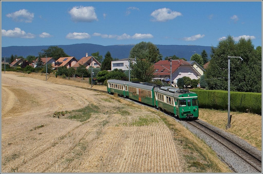 A BAM local train near Vufflens le Château.