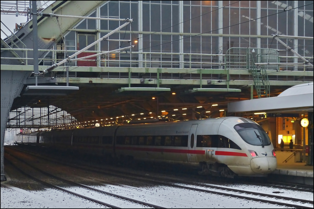 A ICE-TD double unit pictured in Berlin east station on December 23rd, 2012.
