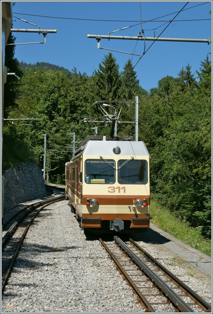A-L Local train in the crossing Station  Rennaz .