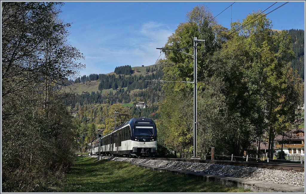 A MOB local train between Saanen and Gstaad.