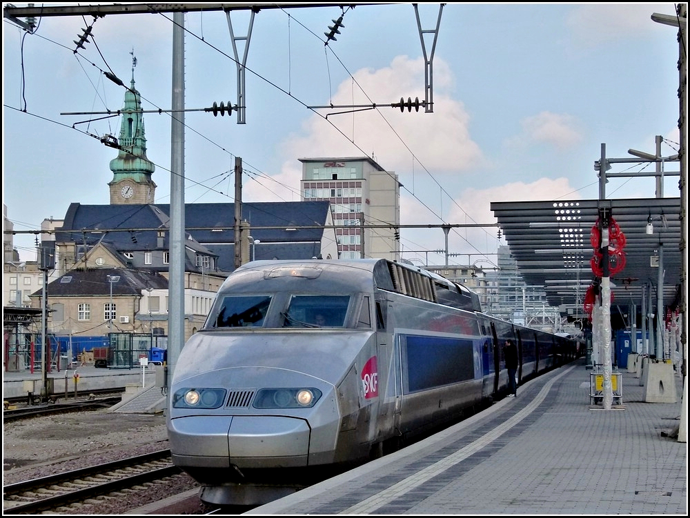 A TGV Atlantique/Réseau pictured in Luxemburg City on February 8th, 2011.