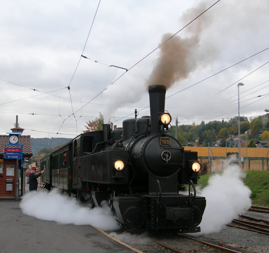 Blonay - Chamby steamer locomotion in Blonay