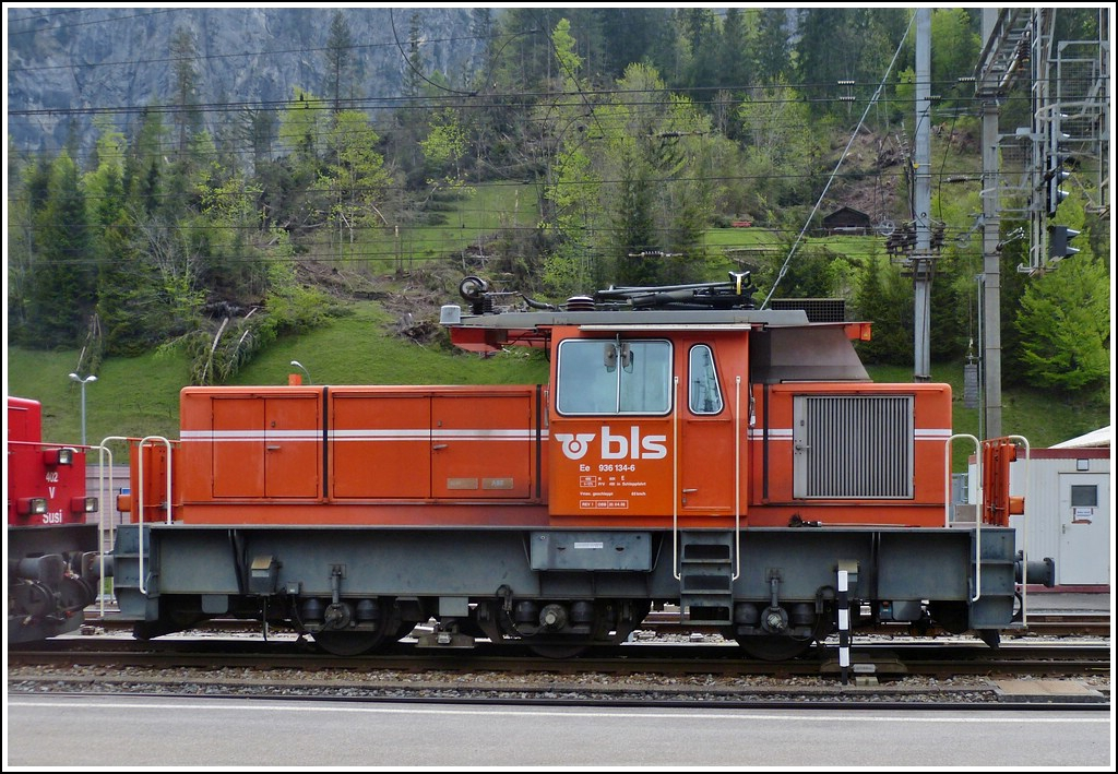 BLS Ee 936 134-6 pictured in Kandersteg on May 22nd, 2012.