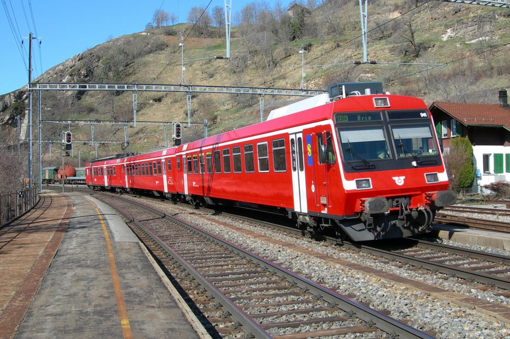 BLS local train to Brig in Ausserberg