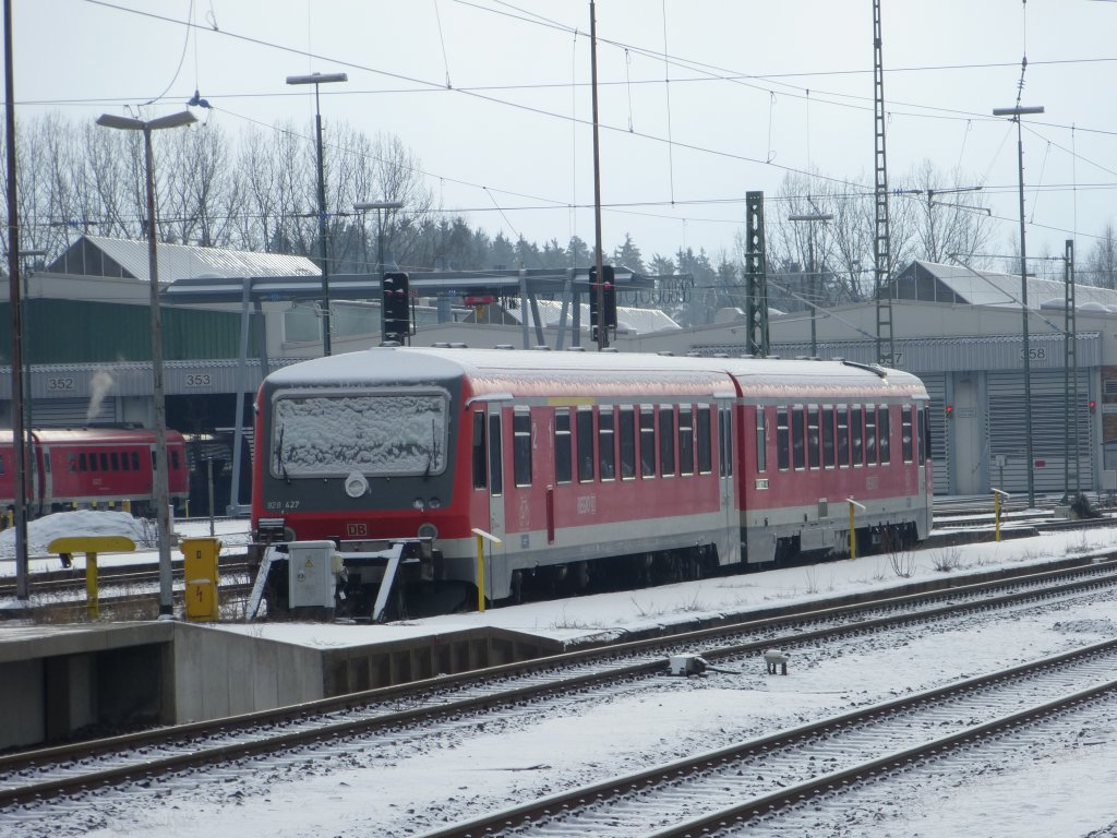 Here you can see a parked train in Hof main station ( April 1st 2013 )