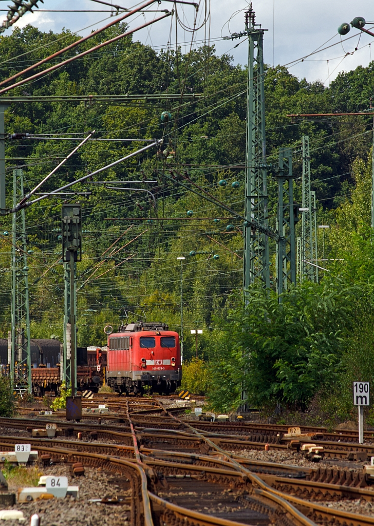 Here's the other, as of BB - 140 003-5 (ex E40 003) of the DB Schenker Rail on 25.08.2012 in Betzdorf/Sieg here today is locomotive crews trained. The locomotive was built in 1957 by Krauss-Maffei.