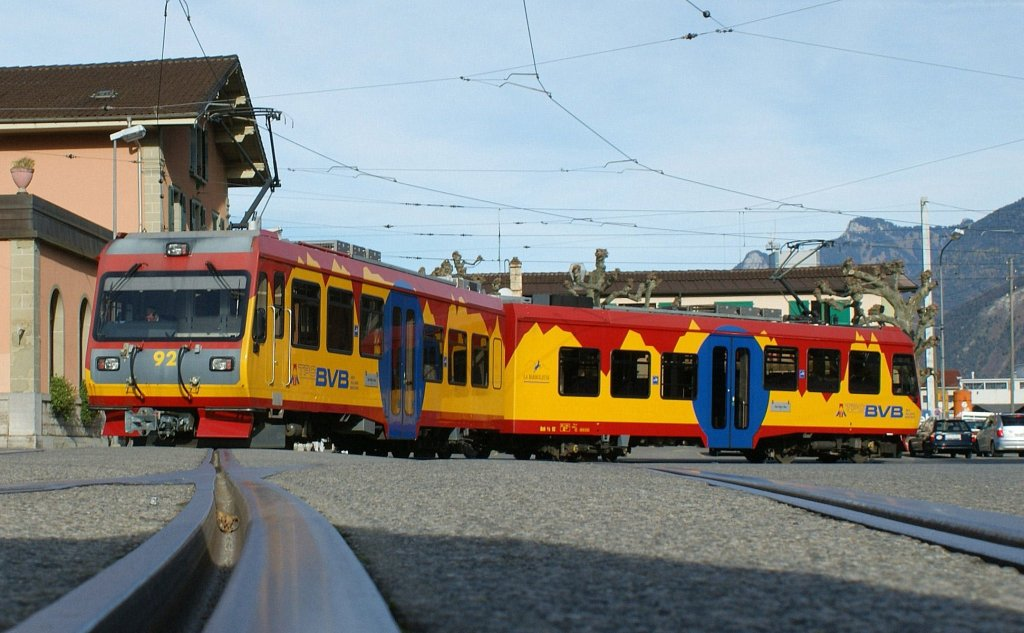 Bex Switzerland  City new picture : On the Station Place in Bex stay the local service to Villars s/O and ...