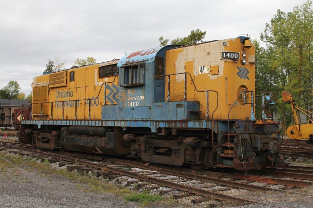 ONR (Ontario Northern Railway) RS-10 1400 was built 1955 from Monteral Locomotive Works. 16.9.2010 at Canadian Railway Museum in Delson,Qc.