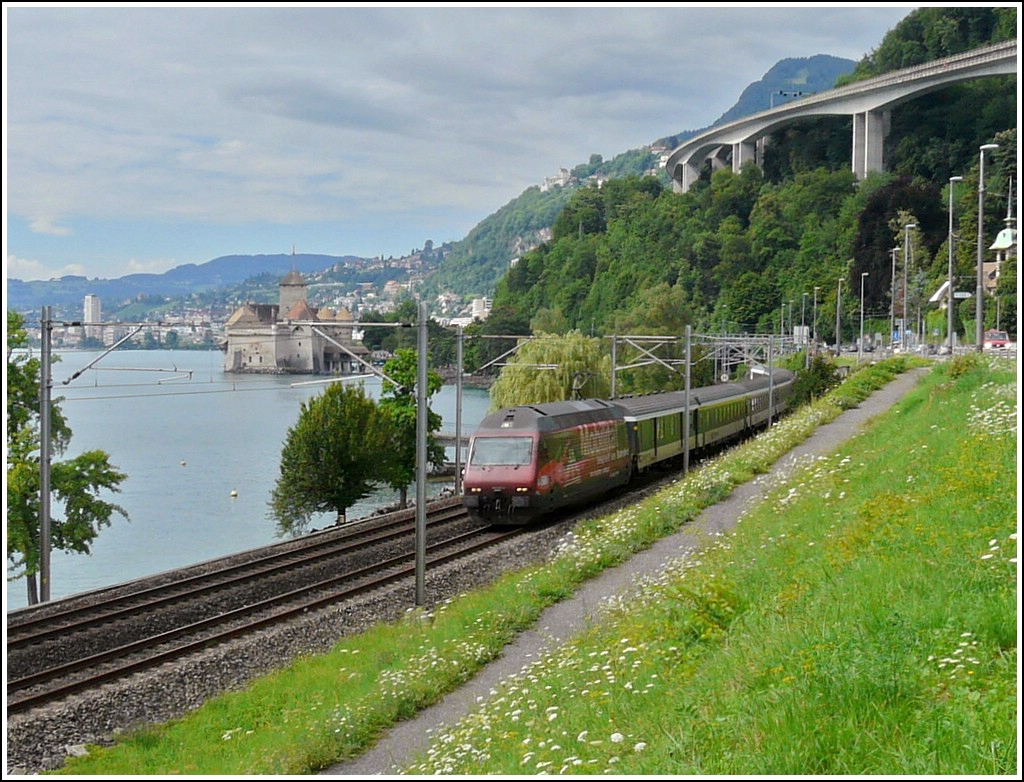 Re 460 094-6 pictured near the Château de Chillon on August 2nd, 2008.