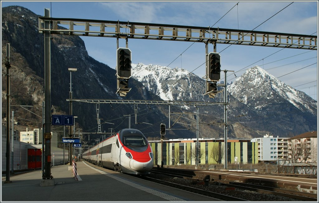 SBB ETR 610  on the way to Geneva in Martigny.