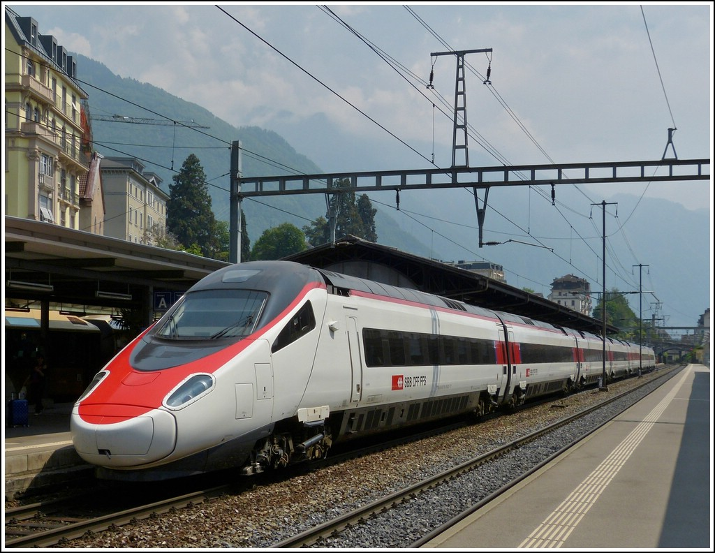 SBB ETR 610 pictured in Montreux on May 25th, 2012.