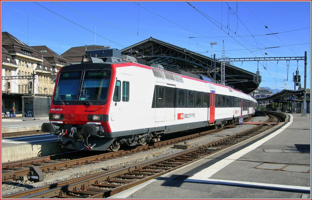 SBB White train II: A DOMINO to Yverdon on Lausanne. 