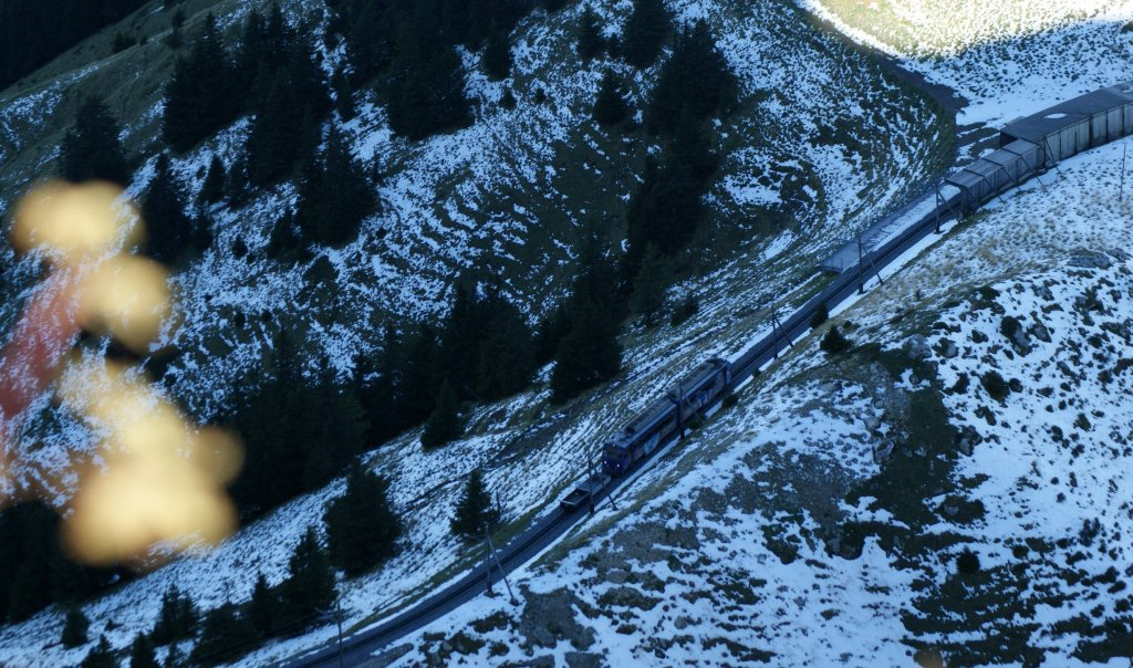 Search the Rochers de Naye train in the winter Shadow...