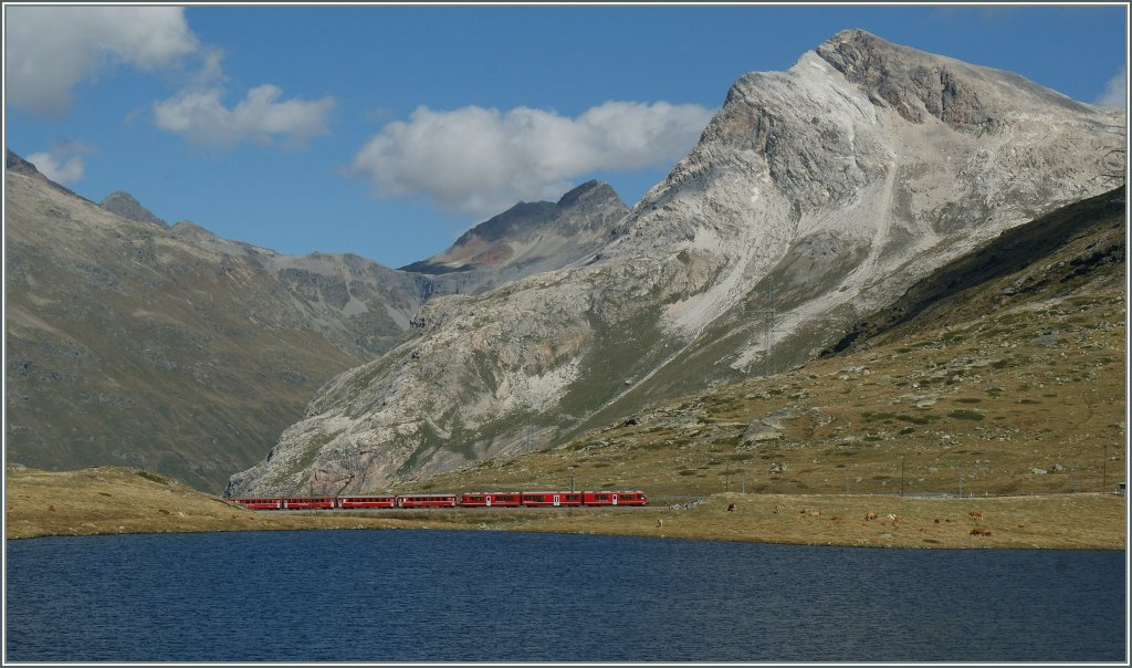 That's not a Fjord in Norway, That is the Bernina Line between Bernina Lagalp and Bernina Ospizio. 