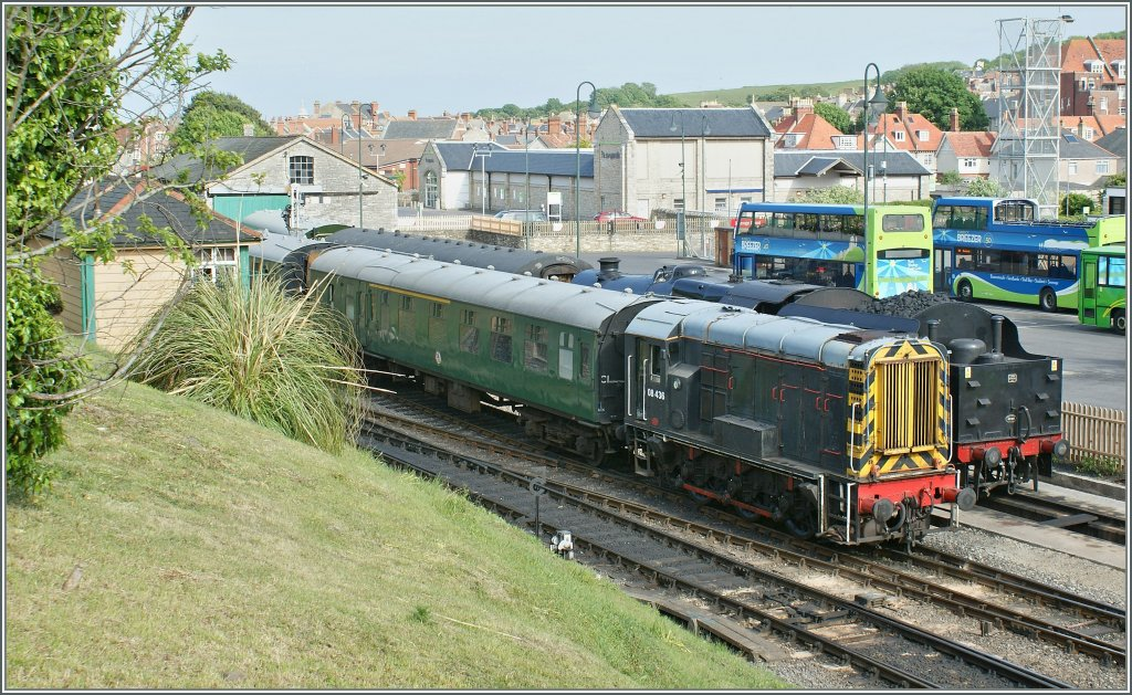 The 08 436 in Swanage. 