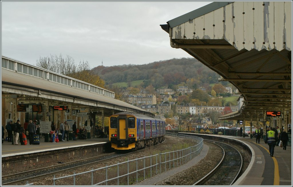 The 150 244 to Westbury by his stop in Bath (Spa).