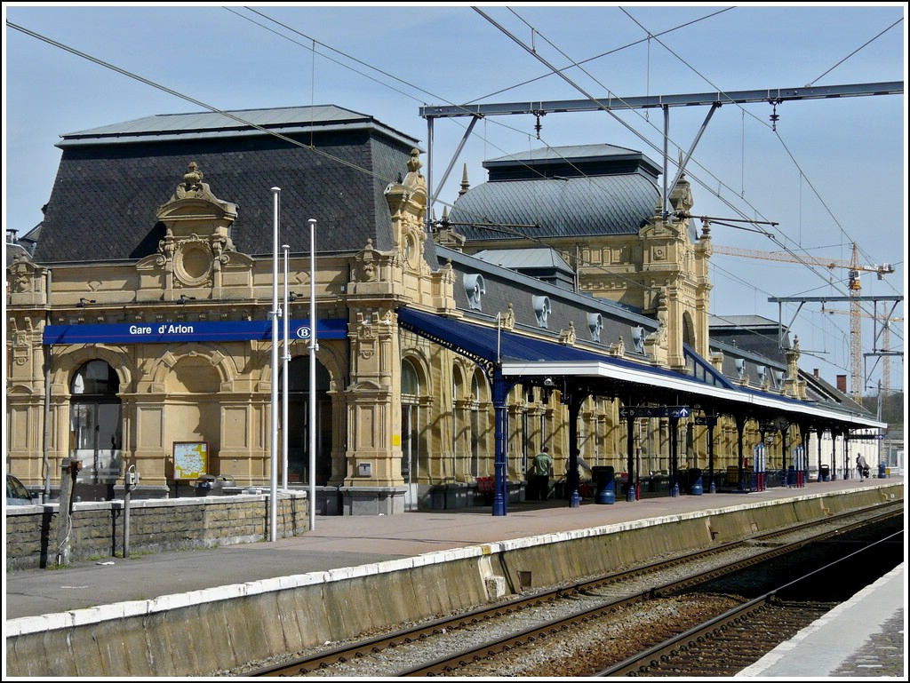 The beautifully renovated building of the railway station of Arlon photographed on April 27th, 2008.