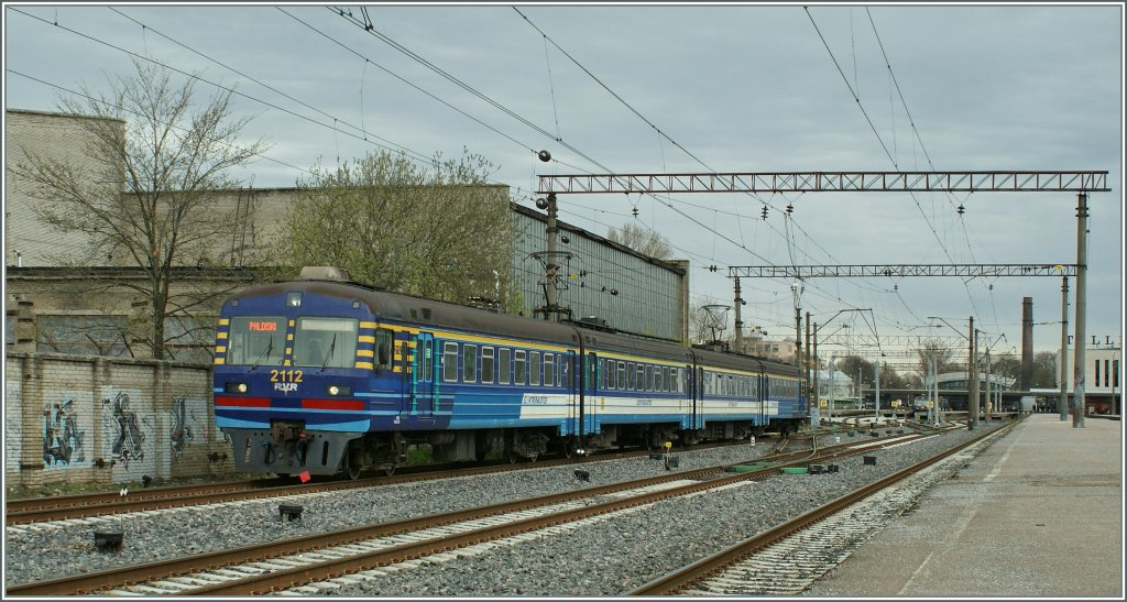 The Elektriraudtee 2112 is leaving Tallinn to Paldiski. 
