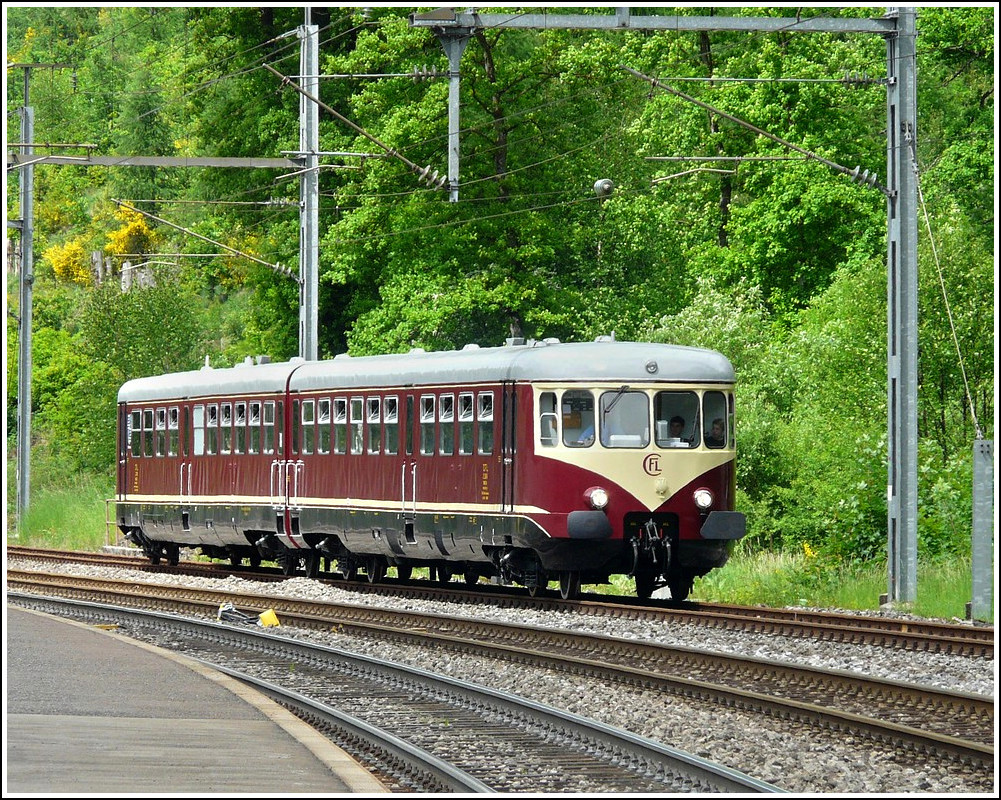 The heritage 208/218 pictured in Clervaux on May 25th, 2008.