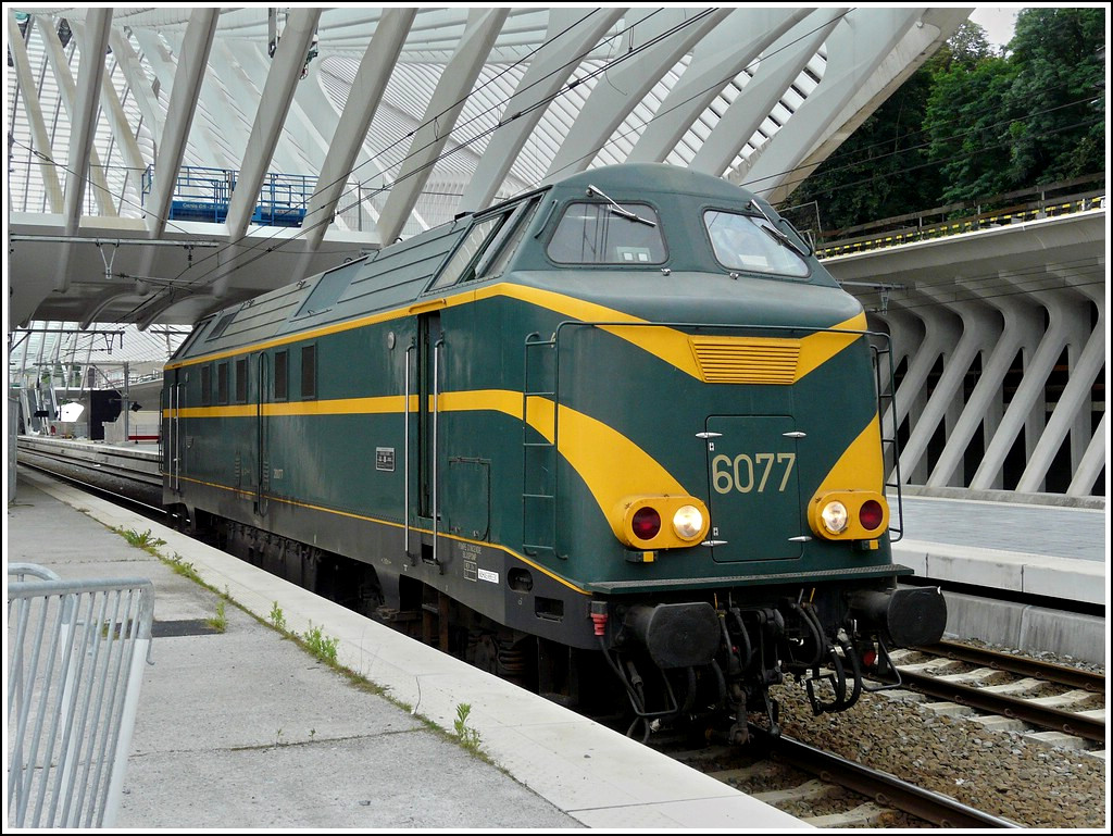 The heritage HLD 6077 pictured in Liège Guillemins on June 28th, 2008.