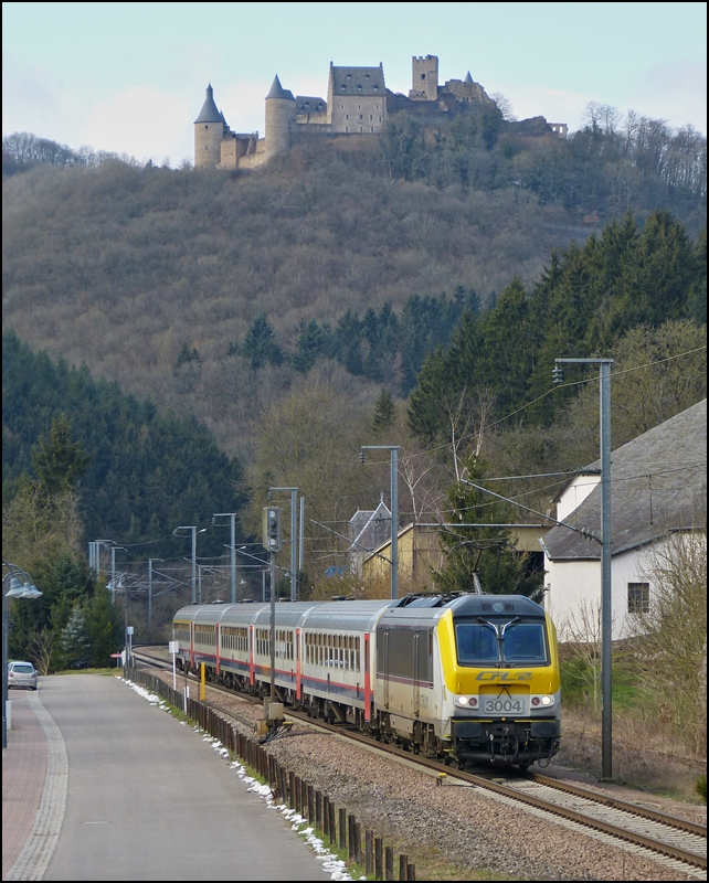 The IR 117 Liers - Luxembourg City is running through Michelau on February 21st, 2013.