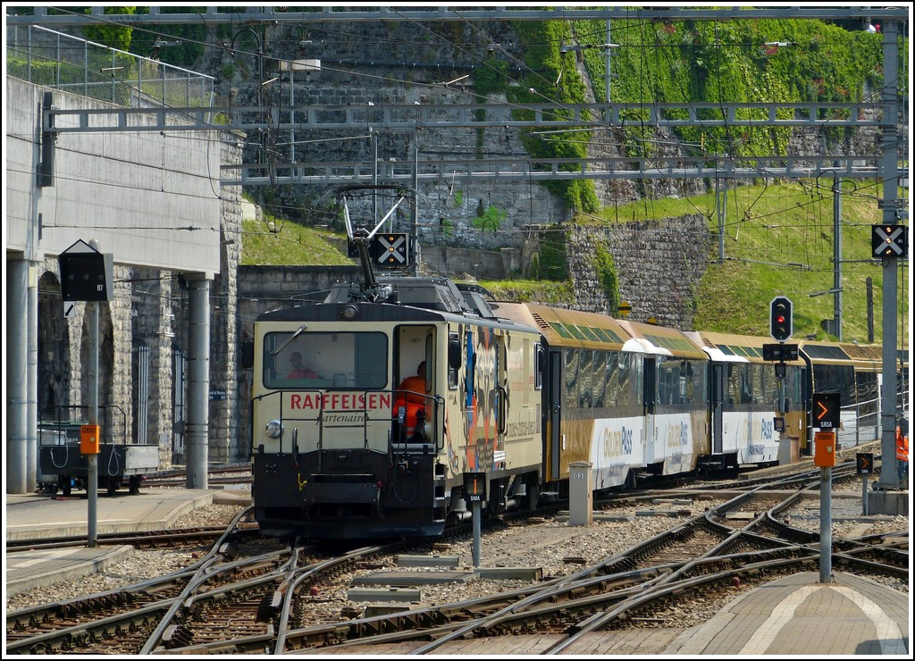 The MOB GDe 4/4 6001 pictured in Montreux on May 25th, 2012.