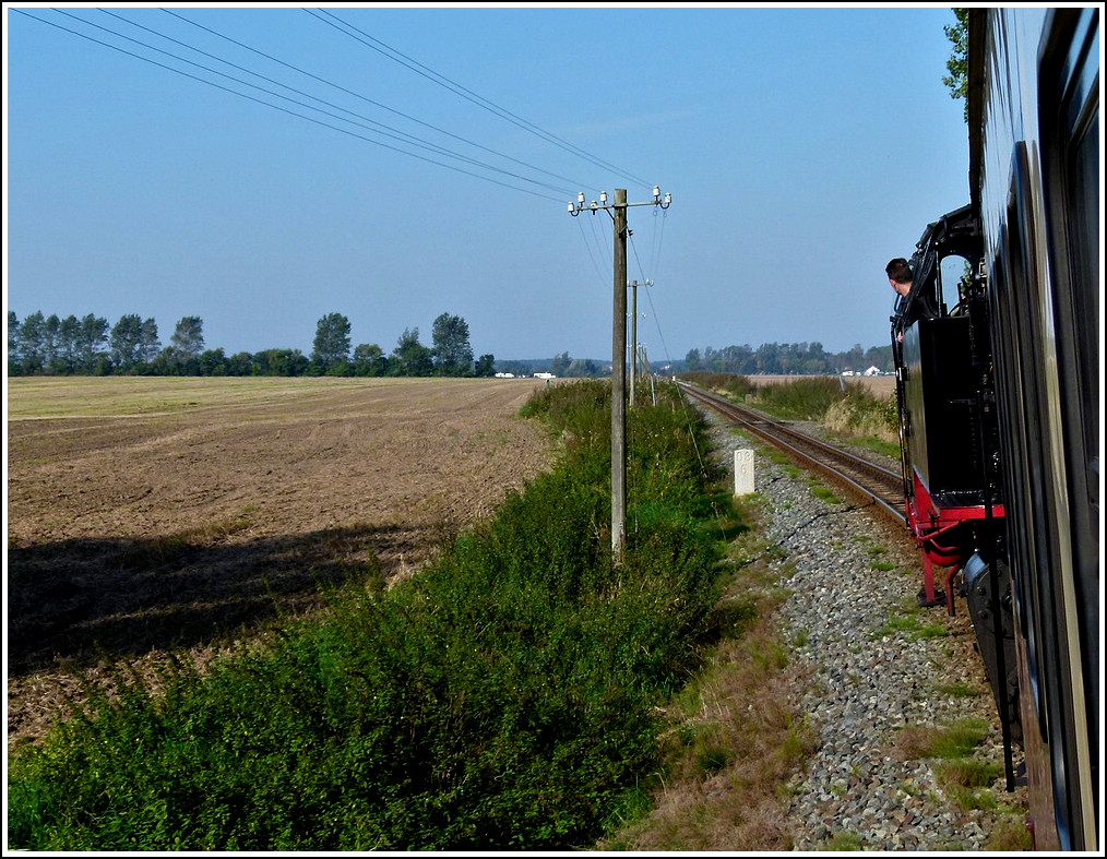 The Molli is running through the nice landscape between Heiligendamm and Kühlungsborn on September 25th, 2011.