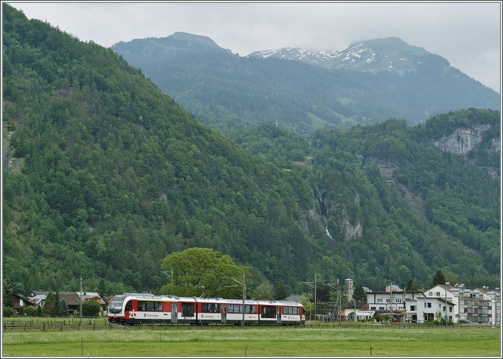 The new ABeh 160 002-8 on testdrive by Meiringen.