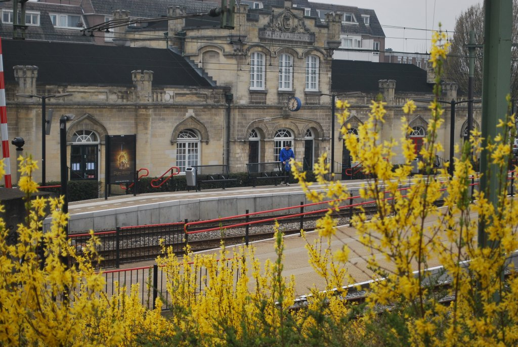 The oldest Dutch railway station (1853) photographed on 4th April 2012 (Valkenburg, South Limburg)
