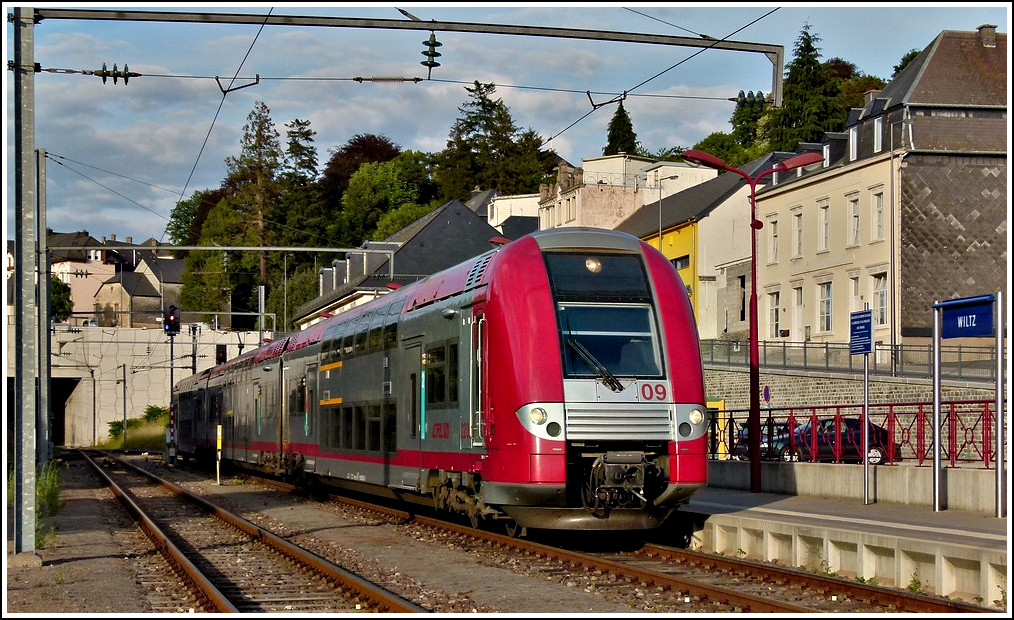 The rare visit of Z 2209 at the station of Wiltz on July 8th, 2011.