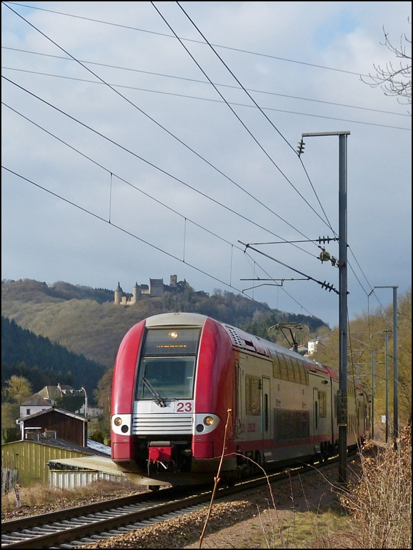 The RB 3240 Wiltz - Luxembourg City pictured in Michelau on February 21st, 2013.