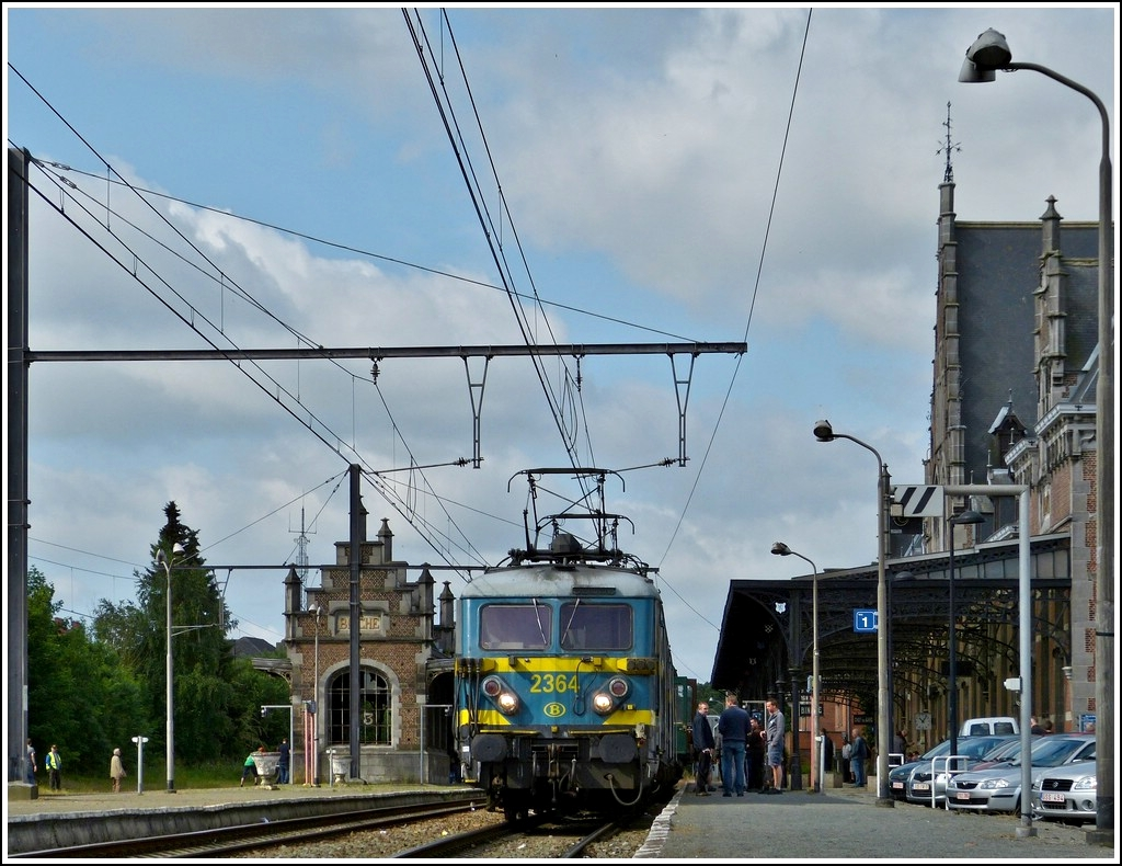 The special train  Adieu Série 23  pictured in Binche on June 23rd, 2012.