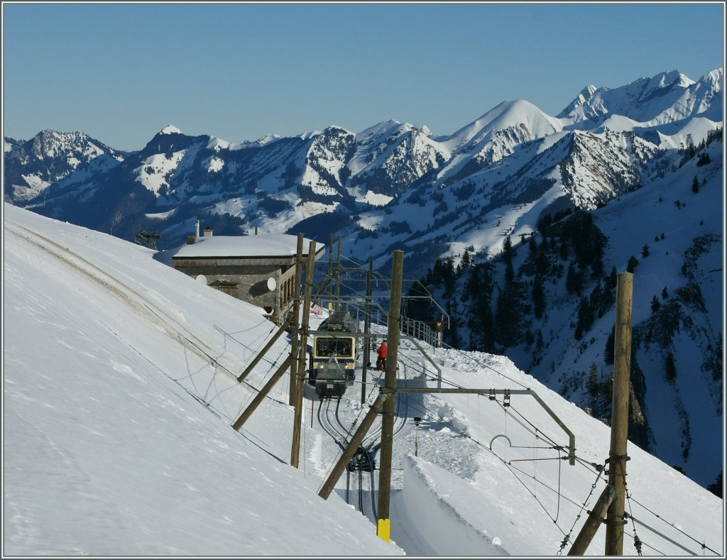 The Station Jaman on the Rochers de Naye line. 