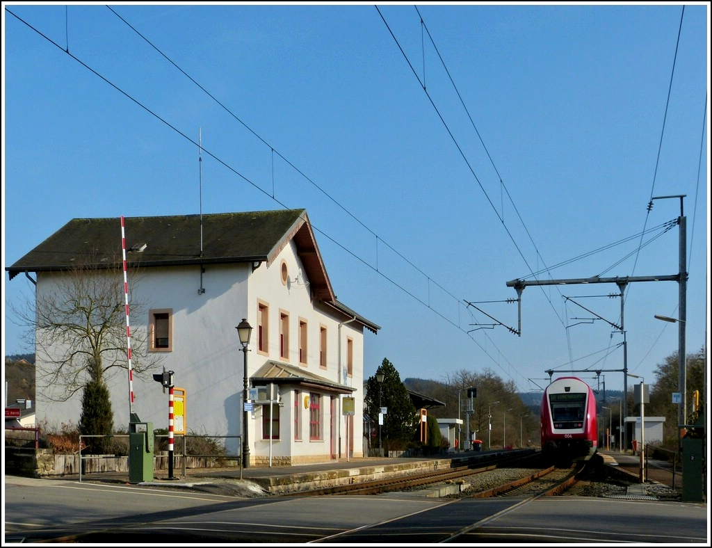 The station of Wilwerwiltz photographed on March 20th, 2012.